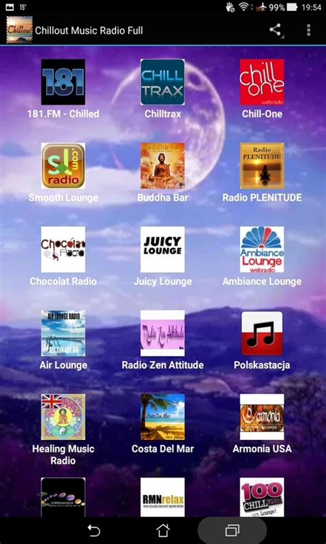 Chillout Music Radio Full free android app - Android Freeware