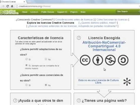 crear licencia creative commons