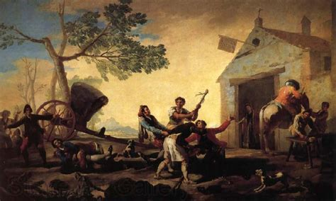 Fight at the New Inn Francisco Goya Open picture USA Oil ...