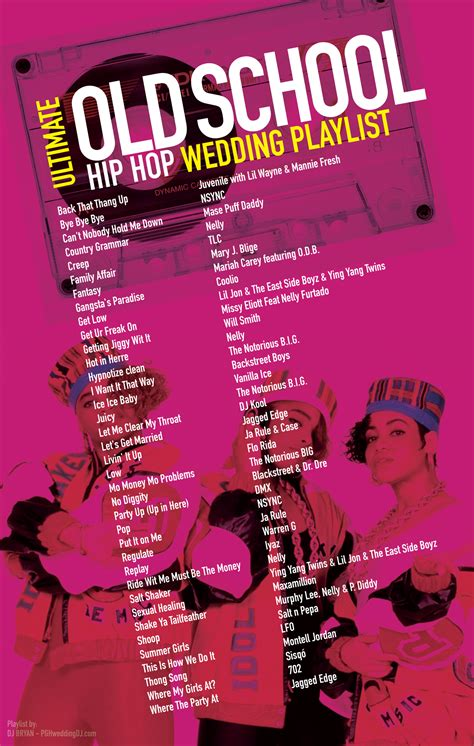 Old School Hip Hop Wedding Playlist most requested 90's ...