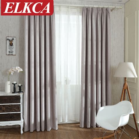 Solid Colors Blackout Curtains for the Bedroom Faux Linen ...