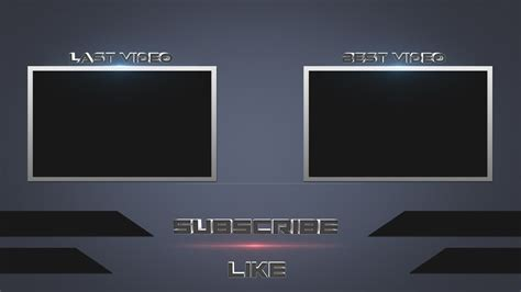 [Speed Art] Photoshop Free Outro Template - YouTube