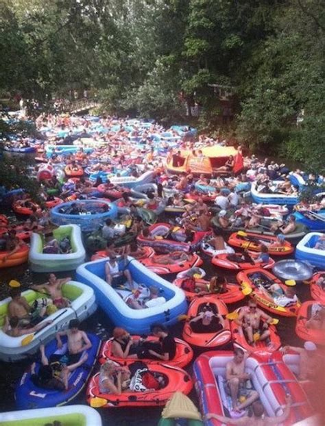 Spring Break Float Trip River Rafting Traffic Jam Don't ...