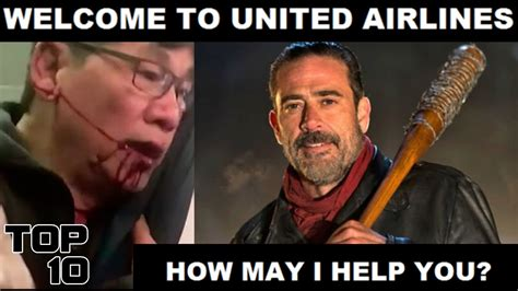 Top 10 United Airlines Funniest Memes - YouTube