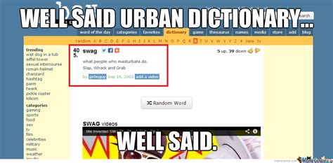 Urban Dictionary by pikajew - Meme Center
