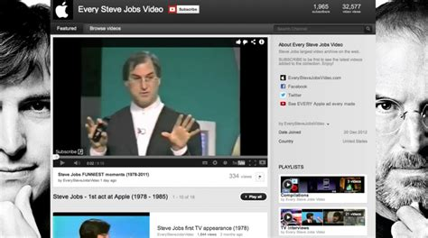 Watch Nearly Every Steve Jobs Video on New Blog Site and ...